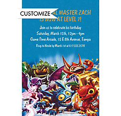 Skylanders Custom Invitation