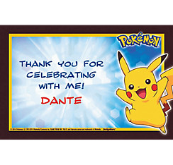 Pikachu and Friends Custom Thank You Note