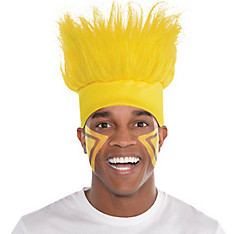 Yellow Crazy Hair Headband