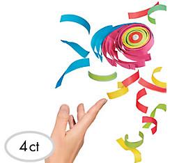 Rainbow Tissue Paper Confetti Rolls 4ct