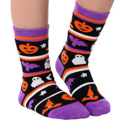 Child Halloween Stripe Crew Socks