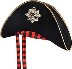 Black Skull & Crossbones Pirate Hat