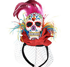 Sugar Skull Fascinator Headband Couture - Day of the Dead