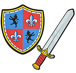 Child Knight Shield & Sword