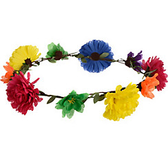 60s Hippie Flower Headwreath