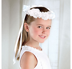 Child White Rose Headwreath