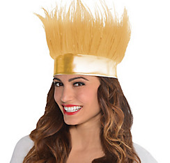 Gold Crazy Hair Headband