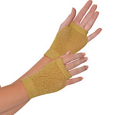 Gold Fishnet Glovelettes