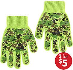 Child Digital Camo Gloves