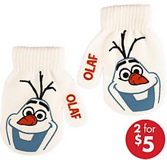 Child Olaf Mittens - Frozen