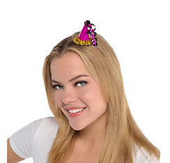 Clip-On Prismatic Pink Mini Party Hat