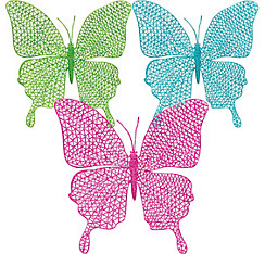 Glitter Hanging Butterflies 3ct