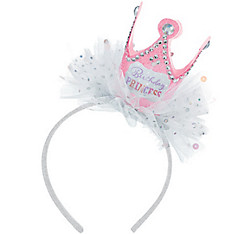 Pink Birthday Princess Crown Headband