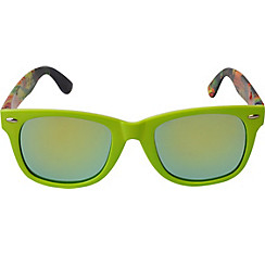 Lime Green Mirrored Sunglasses