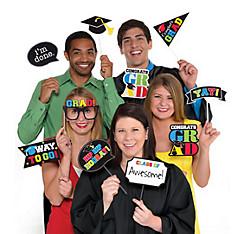 Multicolor Graduation Photo Booth Props 13pc