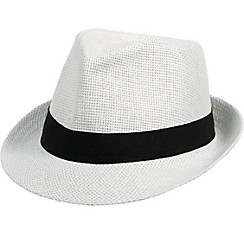 White Straw Fedora