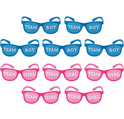 Girl or Boy Gender Reveal Glasses 10ct