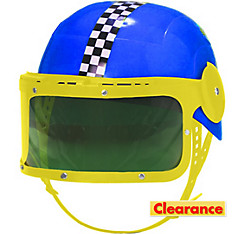 Blue Race Car Driver Helmet