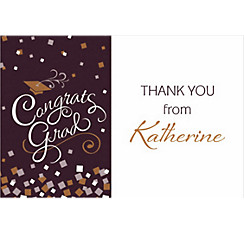 Custom Congrats Graduation Thank You Note