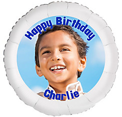 Custom Boy Birthday Photo Balloon
