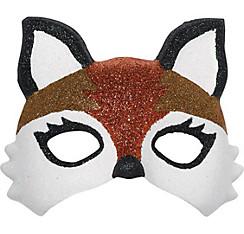 Child Glitter Fox Mask