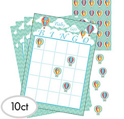 Up & Away Baby Shower Bingo Game