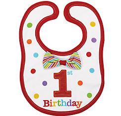 Rainbow 1st Birthday Bib