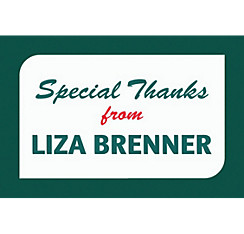 Custom Bright Grad Text Thank You Note