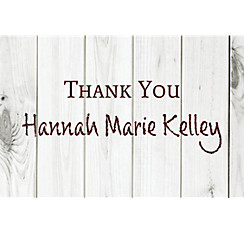 Custom White Wood Graduation Thank You Note