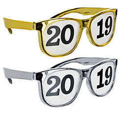 Gold & Silver 2017 Printed Glasses 8ct
