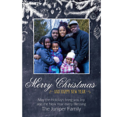 Custom Chalkboard Festive Christmas Photo Card