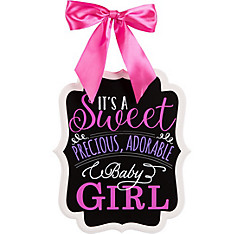 It's a Girl Baby Shower Chalkboard Sign