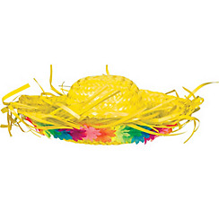 Yellow Hawaiian Straw Hat