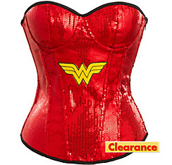 Adult Sequin Wonder Woman Corset