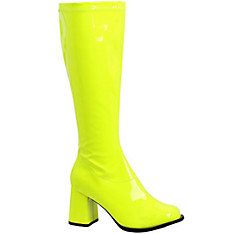 Adult Neon Yellow Go-Go Boots