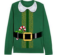 Santa's Little Helper Elf Christmas Sweater