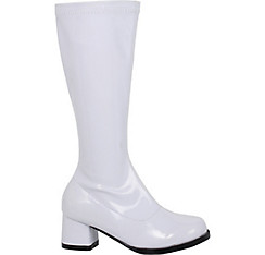 Child White Dora Go-Go Boots