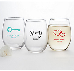 Quick Shop Personalized Stemless Wine Glasses 15oz