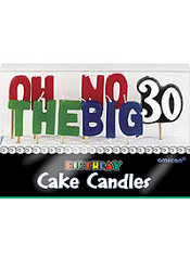 Oh No the Big 30 Birthday Candles