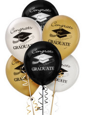 Assorted Graduation Balloons 15ct