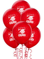 Red Graduation Balloons 15ct