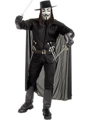 Adult V for Vendetta Costume Deluxe