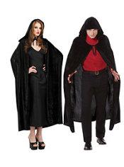 Adult Crushed Velvet Hooded Cloak Deluxe
