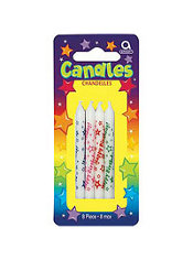 Happy Birthday Candles 3in 8ct