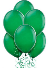 Forest Green Latex Balloons 12in 15ct