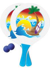 Beach Paddle Ball Set 4pc