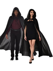 Adult Black Hooded Cape