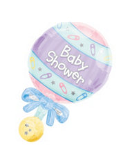 Foil Rattle Baby Shower Balloon 31in