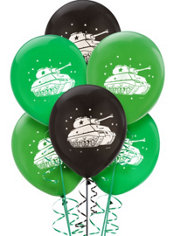 Latex Camouflage Birthday Balloons 12in 6ct
