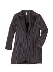 Adult Black and White Zoot Suit Jacket